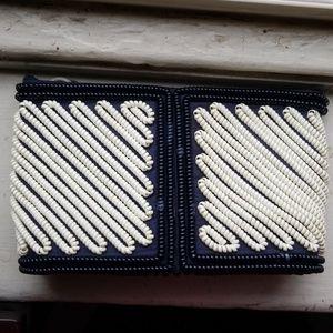 Vintage 1940s telephone cord purse coil bag